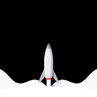 Launching gray rocket illustration free png