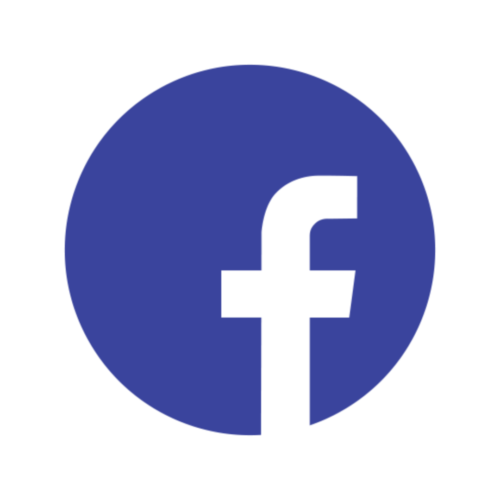 Facebook round icon transparent background