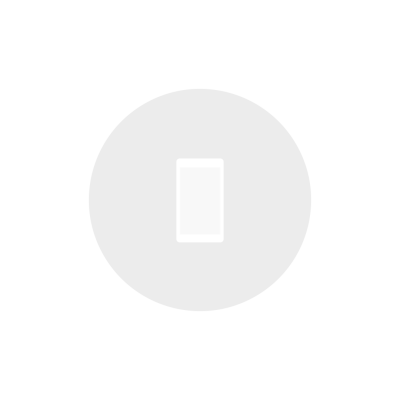 White phone icon on gray circle icon with transparent background
