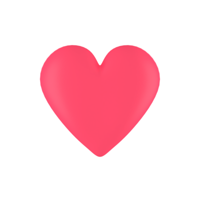 3D Heart Free PNG