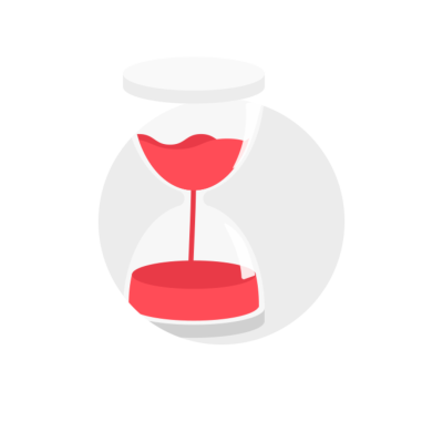Hourglass clip art icon with transparent background