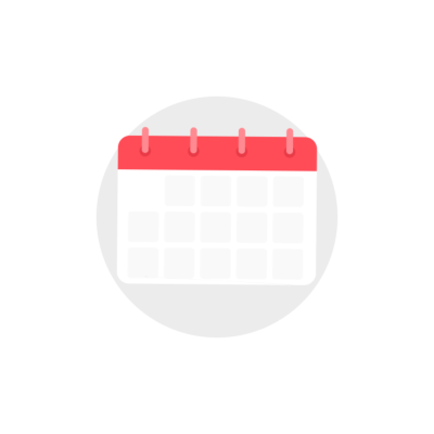 Calendar with white pages clipart illustration icon with transparent background