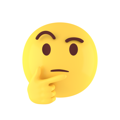 Thinking Face 3D Emoji Free PNG