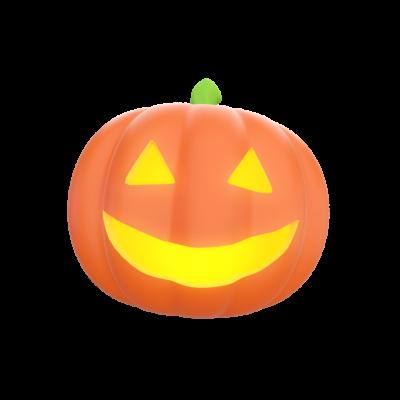 Jack-O-Lantern 3D Emoji Free PNG