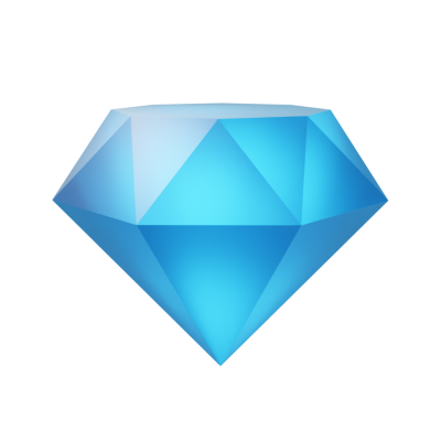 3D Diamond PNG