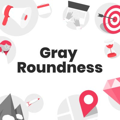 gray roundness gif icons collection