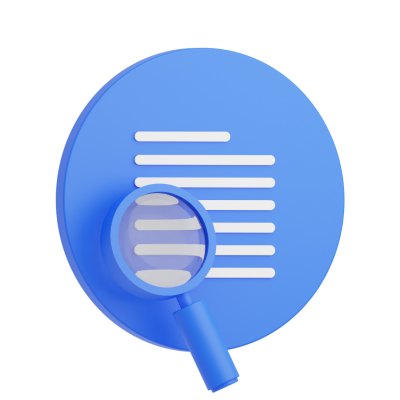 Magnifuing Glass 3d Icon Round