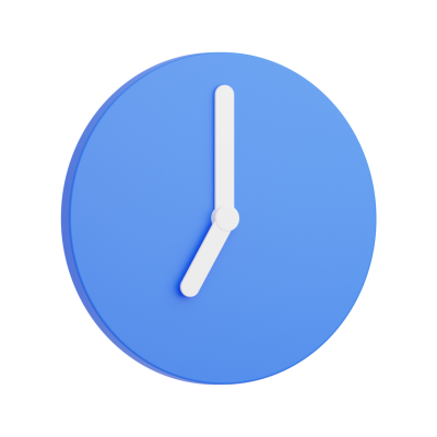 Clock 3D Icon showing 7 o'clock