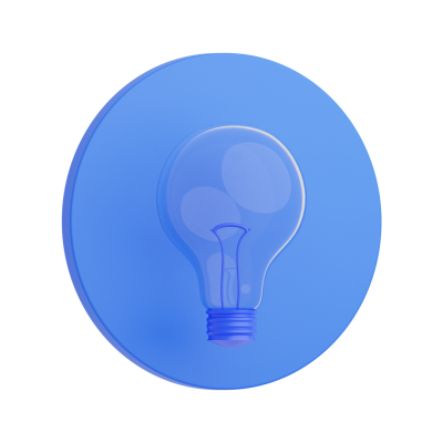 3D Light Bulb icon png