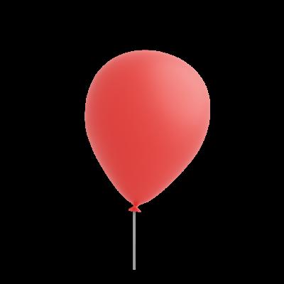 red 3d balloon emoji