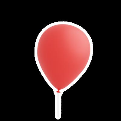 Red balloon sticker emoji with transparent background