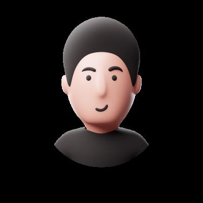 3d avatar smiling