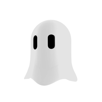 Cute Ghost 3D png