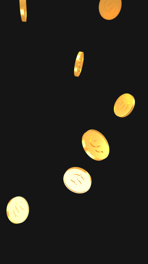 gold coins vertical background