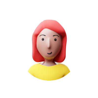 Woman with red hair 3d avatar