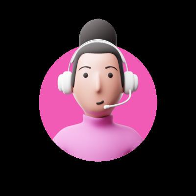 Gamer woman avatar