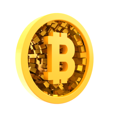 Bitcoin 3D side view