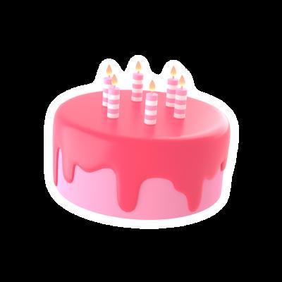 3d bithday cake emoji sticker png
