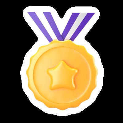 medal emoji sticker 3d
