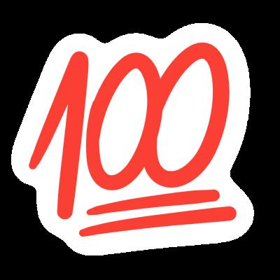 100 points emoji sticker